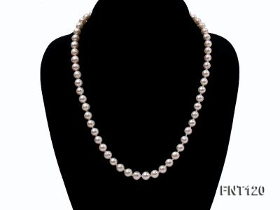 7-8mm White Freshwater Pearl Necklace, Bracelet and Stud Earrings Set FNT120 Image 2