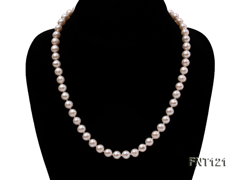 8-8.5mm White Freshwater Pearl Necklace, Bracelet and Stud Earrings Set big Image 2