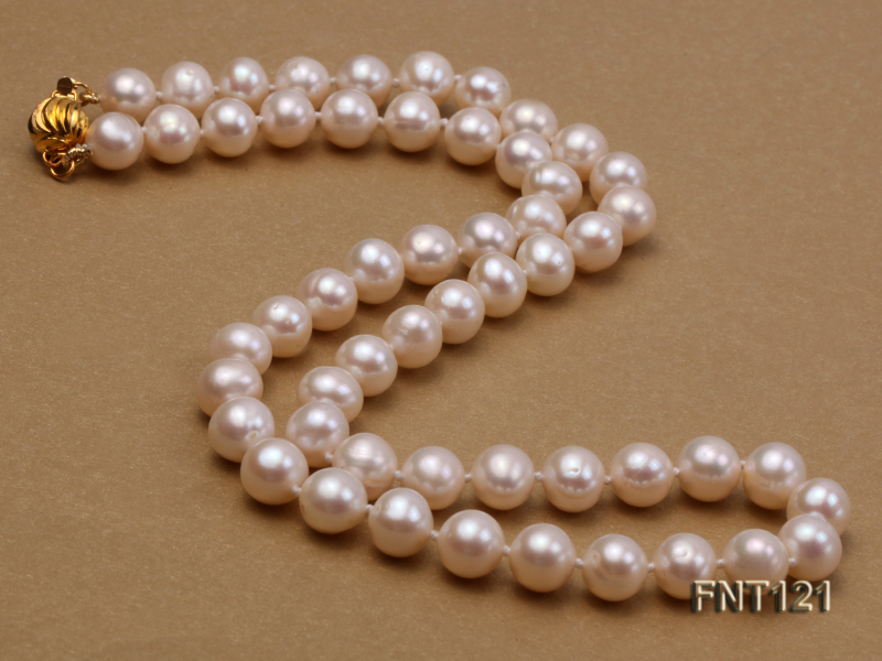 8-8.5mm White Freshwater Pearl Necklace, Bracelet and Stud Earrings Set big Image 3