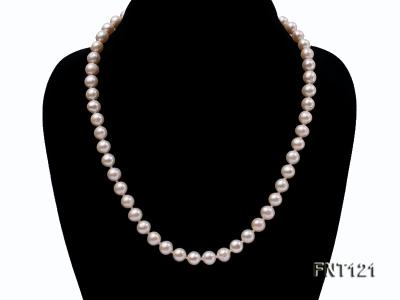 8-8.5mm White Freshwater Pearl Necklace, Bracelet and Stud Earrings Set FNT121 Image 2
