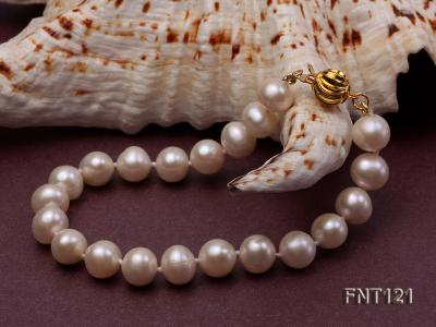 8-8.5mm White Freshwater Pearl Necklace, Bracelet and Stud Earrings Set FNT121 Image 6