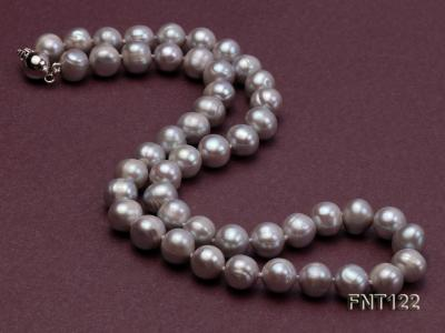 8-8.5mm Gray Freshwater Pearl Necklace, Bracelet and Earrings Set FNT122 Image 4