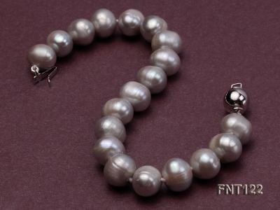 8-8.5mm Gray Freshwater Pearl Necklace, Bracelet and Earrings Set FNT122 Image 5