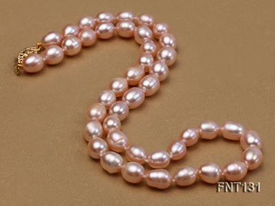 7x8mm Pink Freshwater Pearl Necklace and Bracelet Set FNT131 Image 5
