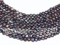 Wholesale 8-9mm Peacock Flat Cultured Freshwater Pearl String SBP120