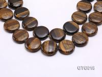 wholesale 25mm Oval Tigereye Pieces Strings GTG018
