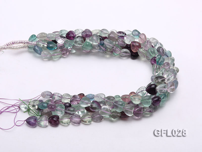 Wholesale 12mm Colorful Heart-shaped Fluorite String big Image 3