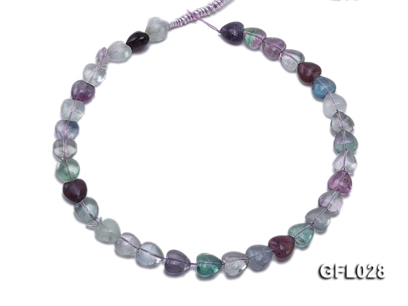 Wholesale 12mm Colorful Heart-shaped Fluorite String big Image 4