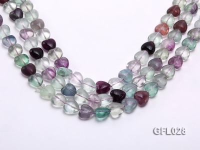 Wholesale 12mm Colorful Heart-shaped Fluorite String GFL028 Image 1
