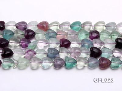 Wholesale 12mm Colorful Heart-shaped Fluorite String GFL028 Image 2