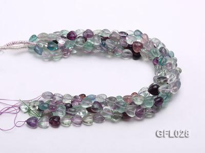 Wholesale 12mm Colorful Heart-shaped Fluorite String GFL028 Image 3