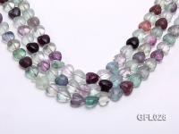 Wholesale 12mm Colorful Heart-shaped Fluorite String GFL028