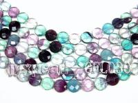 wholesale 15mm button-shaped fluorite semi-finished products GFL030