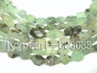 wholesale 20x25mm faceted green garnet strings GOG033