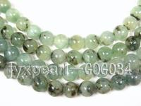 wholesale 18mm round green garnet strings GOG034