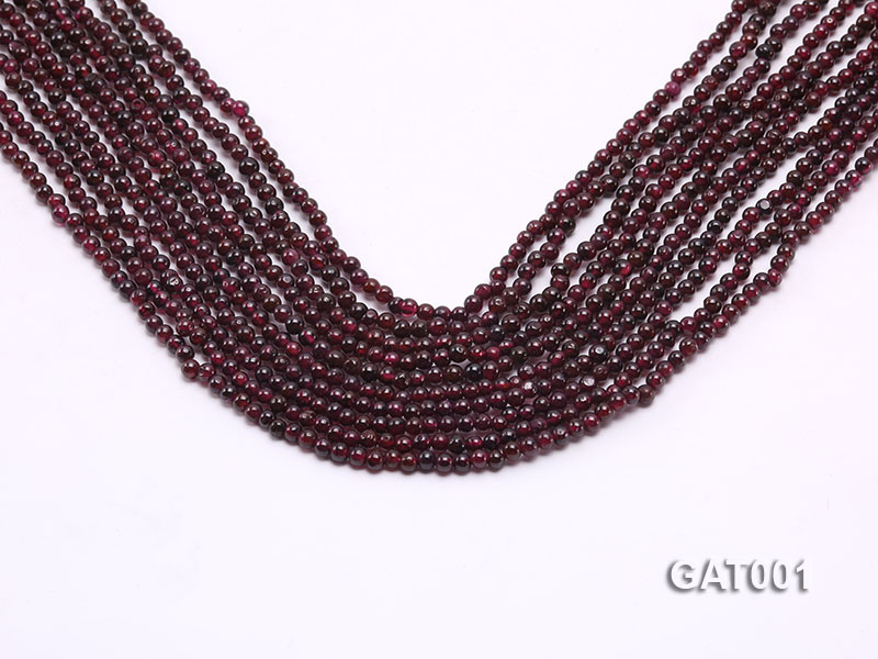 Wholesale 3.5mm Deep Red Round Garnet String big Image 1