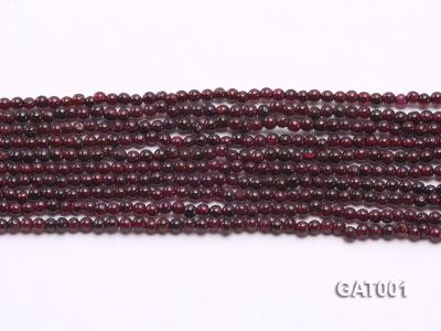 Wholesale 3.5mm Deep Red Round Garnet String GAT001 Image 2