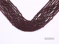 Wholesale 3.5mm Deep Red Round Garnet String GAT001