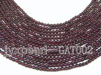 wholesale 4.2mm round dark red garnet strings GAT002