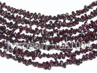 wholesale 4x7mm dark red garnet chip strings GAT004
