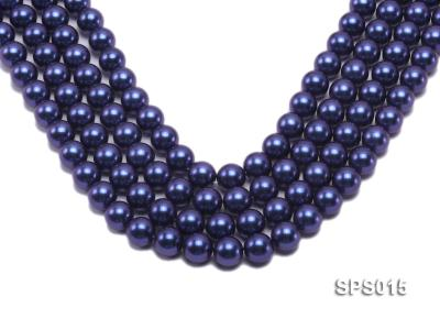 Wholesale 12mm Dark Blue Round Seashell Pearl String SPS015 Image 1