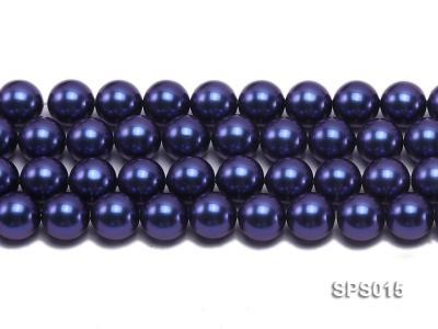 Wholesale 12mm Dark Blue Round Seashell Pearl String SPS015 Image 2