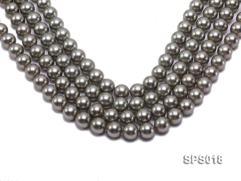 Wholesale 12mm Round Olive Seashell Pearl String big Image 1