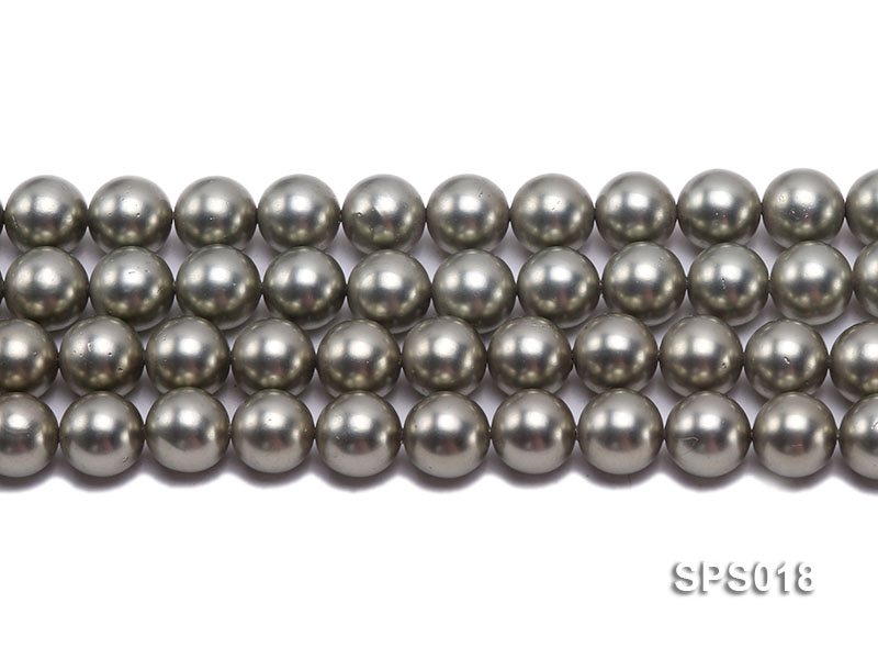 Wholesale 12mm Round Olive Seashell Pearl String big Image 2