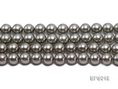 Wholesale 12mm Round Olive Seashell Pearl String SPS018 Image 2