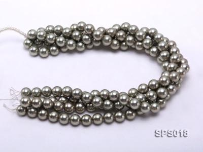 Wholesale 12mm Round Olive Seashell Pearl String SPS018 Image 3