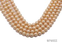 Wholesale 12mm Round Yellow Seashell Pearl String SPS022