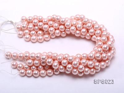 Wholesale 12mm Pink Round Seashell Pearl String SPS023 Image 3