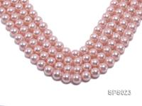 Wholesale 12mm Pink Round Seashell Pearl String SPS023