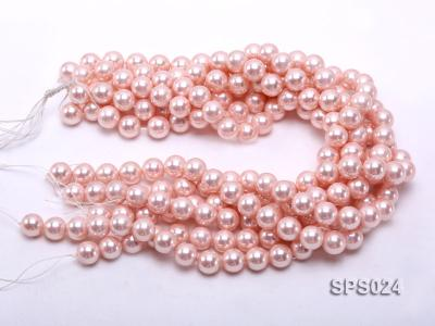 Wholesale 12mm Pink Round Seashell Pearl String SPS024 Image 3