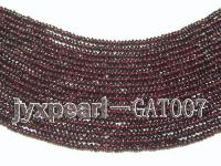 wholesale 4.5mm wheel shape dark red garnet strings GAT007
