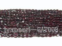 wholesale 6x7mm dark red garnet chip strings GAT008