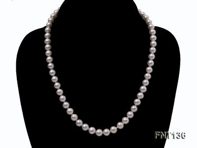 7-7.5mm White Freshwater Pearl Necklace and Bracelet Set FNT136 Image 2