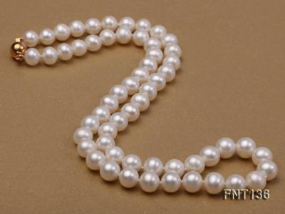 7-7.5mm White Freshwater Pearl Necklace and Bracelet Set FNT136 Image 3