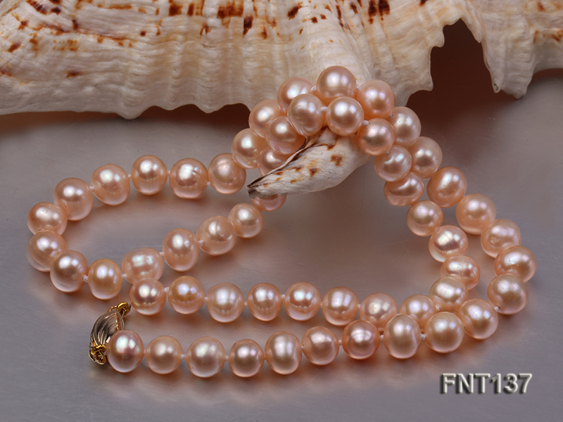 6.5-7.5mm Pink Freshwater Pearl Necklace and Bracelet Set big Image 4
