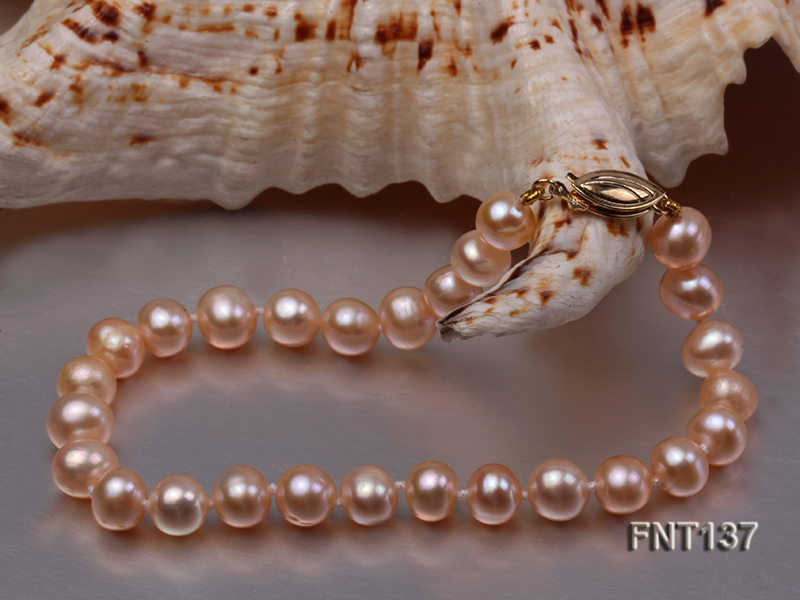 6.5-7.5mm Pink Freshwater Pearl Necklace and Bracelet Set big Image 5