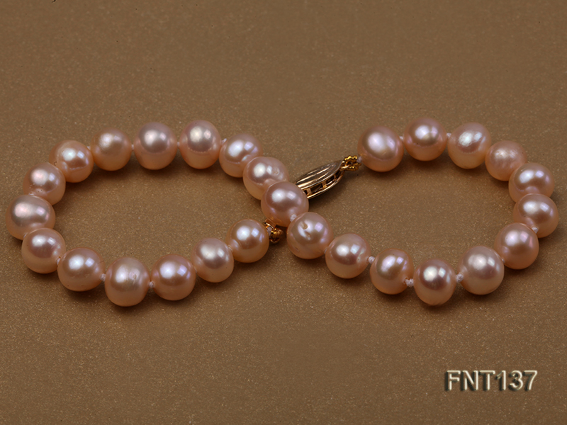 6.5-7.5mm Pink Freshwater Pearl Necklace and Bracelet Set big Image 7
