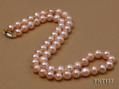 6.5-7.5mm Pink Freshwater Pearl Necklace and Bracelet Set FNT137 Image 6
