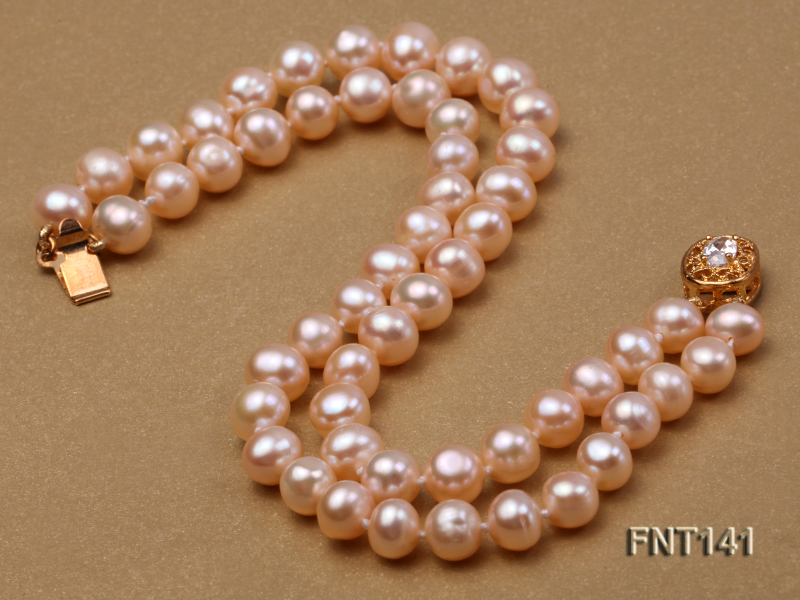 7-8mm Pink Freshwater Pearl Necklace and Bracelet Set big Image 3