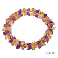5x7mm Yellow and Purple Faceted Crystal Elastic Bracelet CFB005