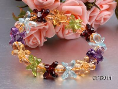 6x8mm Colorful Faceted Crystal Bracelet CFB011 Image 2