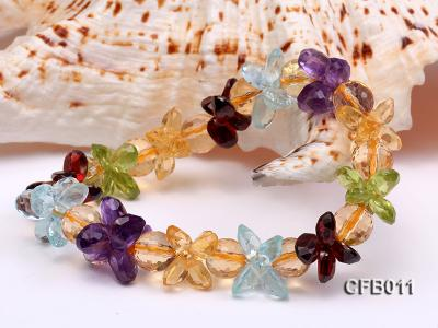 6x8mm Colorful Faceted Crystal Bracelet CFB011 Image 3