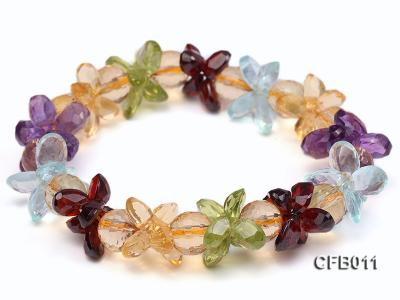 6x8mm Colorful Faceted Crystal Bracelet CFB011 Image 1