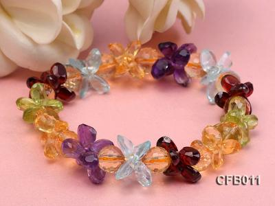 6x8mm Colorful Faceted Crystal Bracelet CFB011 Image 4