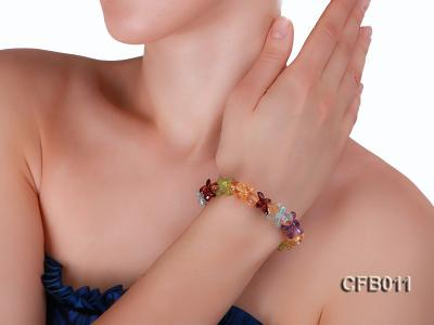 6x8mm Colorful Faceted Crystal Bracelet CFB011 Image 5