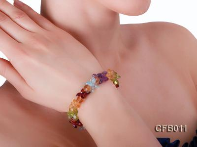 6x8mm Colorful Faceted Crystal Bracelet CFB011 Image 6